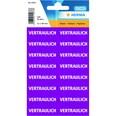 """Herma Text-Etikett Nr. 15037 pink PA 320Stk 125x40mm """" Vertraulich"""""""