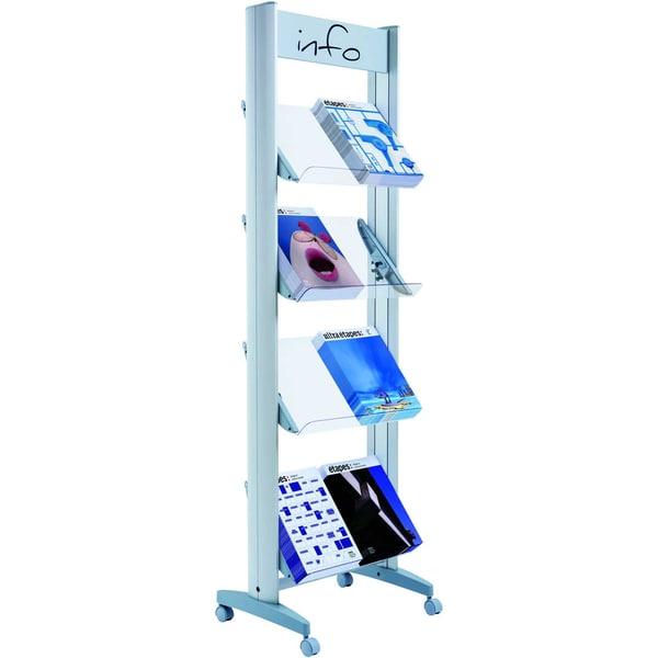 Paperflow Prospektständer Plexiglas Nr. 8.A4TT.35 8 Fächer