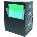Deflecto Wandprospekthalter transparent Nr. 73101 33x178x102cm 1 Fach