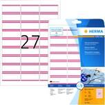 Herma Namensetikett Acetatseide Nr. 4412 PA 540 Stück 635x296mm weiß/rot