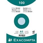 ExacomPTA Karteikarte A5 liniert blau Nr. 10818SE. PA= 100Stk