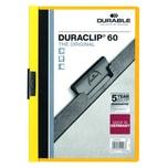 Durable Klemmmappe DURACLIP A4 gelb Nr. 2209-03 Füllhöhe 60Bl mit Deckblatt