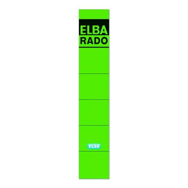 Elba Rückenschild 04614 grün schmal kurz sk Pa10St