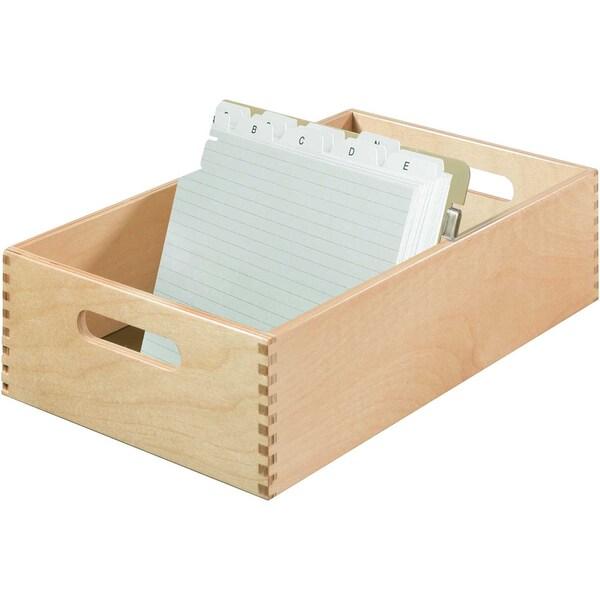 HAN Holzkarteikasten A5 quer Nr. 1005-0 ca. 1.500Karten 23x98x38cm