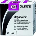 Leitz Buchstabensignal Orgacolor G Rolle Nr. 6616-10 violett PA 250 Stk