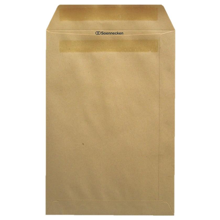 Soennecken Versandtasche B4 braun selbstklebend 110g Nr. 2108. PA= 25ST