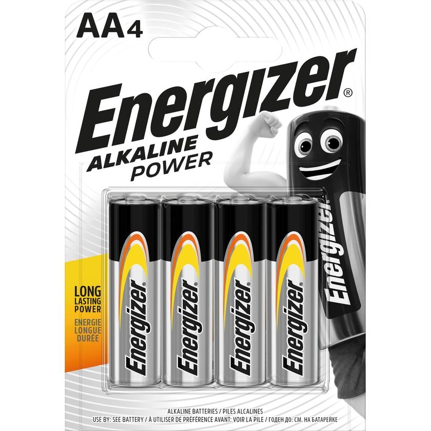 Energizer Batterie Alkaline Power AA Nr. E300132900. 1.5V. LR6. Mignon. 4Stk