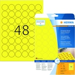Herma Signal Folien-Etikett Nr 8034 gelb PA 1.200Stk Ø 30 mm Signal bedruckbar