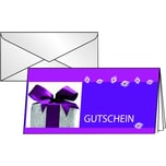Sigel Faltkarte Gutschein Excitement DL Nr. DS403 PA 10Stk + Umschläge