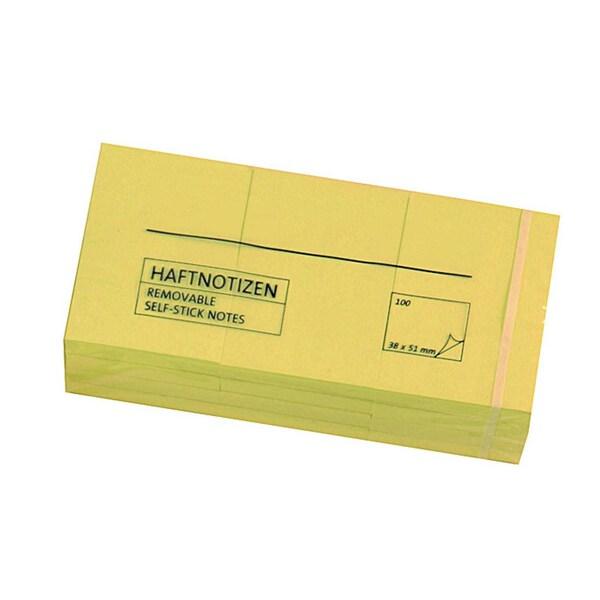 AS Haftnotiz 38x51mm gelb Block à 100 Blatt PA= 12 Stück