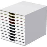 Durable Schubladenbox VARIColor MIX 10 Nr. 763027. 10 Fächer. grau/farbig