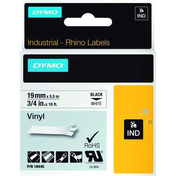 Dymo Rhino Vinylband S0718620 19mmx55m schwarz auf weiß 18445