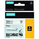 Dymo Rhino Vinylband S0718620 19mmx5.5m schwarz auf weiß. 18445