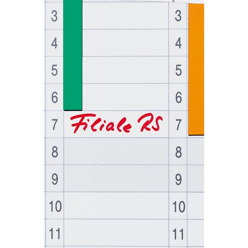Franken Datumstreifen für Jahresplaner Nr. DS703A. selbstklebend PA= 12Stk.
