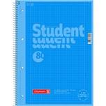 Brunnen Collegeblock Student A4 kariert Nr. 1067928133 80 Bl mit Rand blau