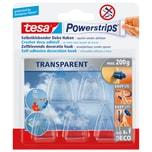 tesa Powerstrips Deco-Haken transparent lösungsmittelfrei Nr. 58900. PA= 5 Haken. 20x35mm. 0.2kg