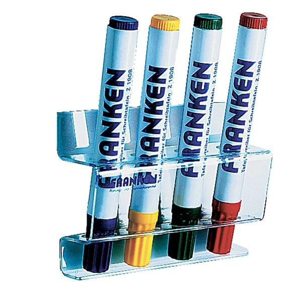 Franken Tafelschreiberhalter Z1981 Acryl magnetisch für 4 Schreiber