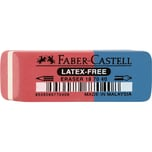 FABER-Castell Radierer Kombi rot/blau Nr. 187040 18x8x54mm Kautschuk