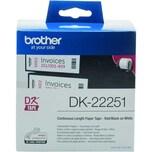 Brother Endlosetikett DK 22251 Papier 62mm x 15.24m. rot/schwarz auf weiß