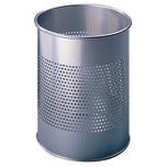 Durable Papierkorb Metall silber 15Liter Nr. 3310-23 kratzfest Ø 26cm