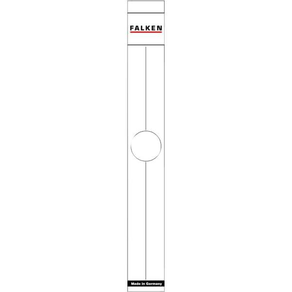 Falken Hängeordner-Rückenschild weiß Nr. 11287075 PA 10St sk schmal/lang