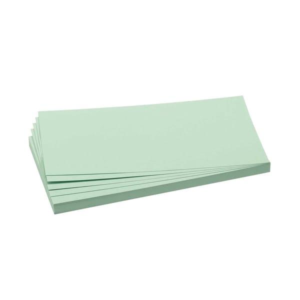 Franken Moderationskarte Rechteck hellgrün Nr. UMZ 1020 19 10x20cm PA 500Stück