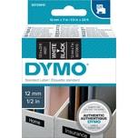 Dymo Schriftbandkassette S0720610 12mmx7m weiß auf schwarz45021 D1