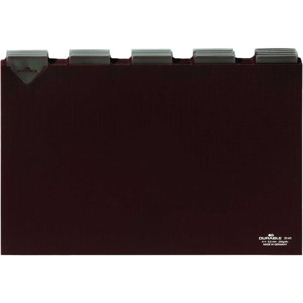 Durable Leitkarten A4 quer blanko braun Nr. 3141-11 25-teilig