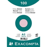 ExacomPTA Karteikarte A5 liniert rosa Nr. 10838SE. PA= 100Stk