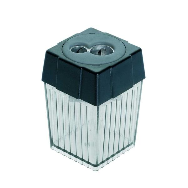 Alco Doppelspitzdose rauch/transparent Nr. 3015-11 Ø 78 & 11mm eckig