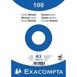 ExacomPTA Karteikarte A5 blanko weiß Nr. 10508E. PA= 100Stk