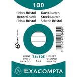 ExacomPTA Karteikarte A7 liniert weiß Nr. 10800SE. PA= 100Stk