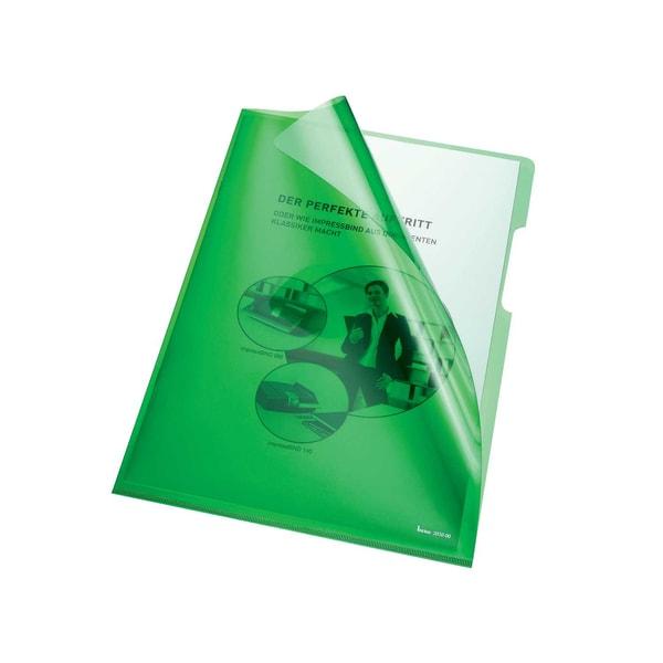 Bene Sichthülle A4 PVC/Hartfolie grün Nr. 205000 GN 150my PA 100Stk