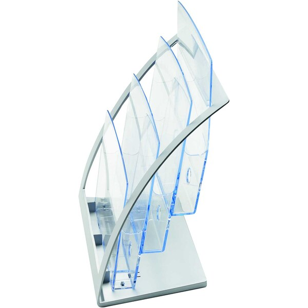 Deflecto Prospekthalter Contemporary A4 Nr. 693745 3 Fächer glasklar