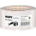 Nopi Packband 50mm x 66m transparent Nr. 57211 Reißfestigkeit mittel PP