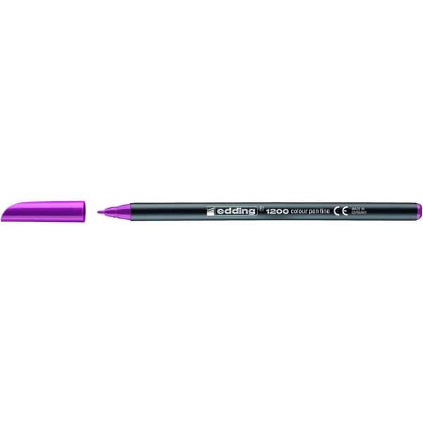 Edding 1200 Fasermaler rot-violett Nr. 4-1200020 Strichstärke ca. 05-1mm