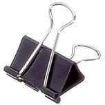 Maul Foldbackklemmer Mauly 13x32mm Nr. 2143290 schwarz PA 12Stk