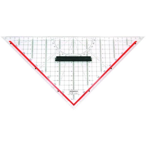 Rumold TZ- und Geometriedreieck 325cm Nr. 1158 aus transparentem Kunststoff
