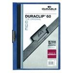 Durable Klemmmappe DURACLIP dunkelblau Nr. 2209-07 Füllhöhe 60Bl mit Deckblatt