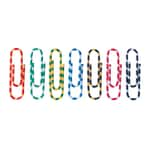 Alco Büroklammer 26mm farbig gestreift Nr. 2256-26 PA=100St. Kunststoffbezug