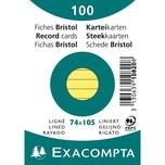 ExacomPTA Karteikarte A7 liniert gelb Nr. 10820SE. PA= 100Stk