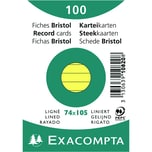 ExacomPTA Karteikarte A7 liniert gelb Nr. 10820SE PA 100 Stück