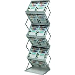 Deflecto Prospektständer silber A3 Nr. 36300 32x74x150cm 6 Fächer