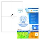 Herma Recycling-Etikett Nr. 10829 weiß 400Stk naturweiß 105x148mm