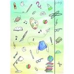 RNK Zeichenmappe Schooldoodle 46308 DIN A4 240x330mm Gummizug Karton