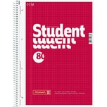BRUNNEN Collegeblock Student A4 kariert Nr. 1067942 80Bl. 70g m.Rand rot