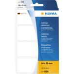 Herma Adress-Etikett Nr. 4300 weiß PA= 250Stk.. 88x35mm endlos leporello
