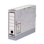 Fellowes Archivbox Bankers Box System Nr. 1080001. 8x26x31.5cm. grau/weiß