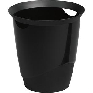 Durable Papierkorb Trend schwarz 16 Liter Nr. 1701710060. Ø 31.5cm