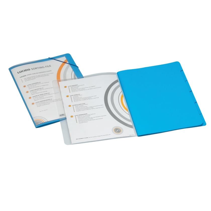 Jalema Ordnungsmappe A4 6 Fächer blau Nr. 1400602 Lucido PP